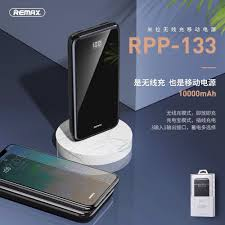 Pin sạc dự phòng không dây Remax RPP133 mặt kính 10.000mAh có đèn ...