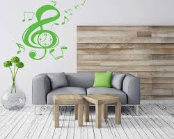 Large Vinyl Decal Music Notation Clef Sign Arrows Clock Wall Sticker Wallstickers4you