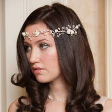 Ivy-Rose Wedding Hairvine. Bridal Headpiece with roses.