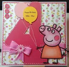 Peppa Pig Card Manualidades Decoracion De Fiestas Infantiles Y