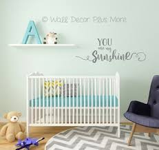 You Are My Sunshine Wall Decal Vinyl Stickers For Nursery Decor