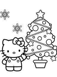Hello Kitty Kerstboom Kleurplaten Hello Kitty Kerst Knutselen