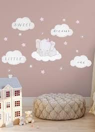Elefant Wandsticker Madchen Babyzimmer Wandaufkleber Sterne Sticker Elefant Wandaufkleber Rosa In 2020 Baby Room Wall Stickers Pink Nursery Walls Elephant Nursery Wall