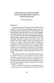"STRAPAROLA'S ""PIACEVOLI NOTTI"": RAGS-TO-RICHES FAIRY TALES AS URBAN  CREATIONS"