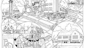 Kleurplaat Oosterparkwijk Voor Volwassenen Oog Radio En Televisie