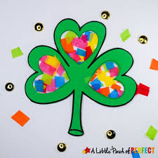 day shamrock craft and free template