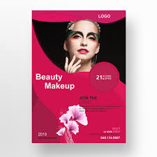beauty makeup flyer template for free