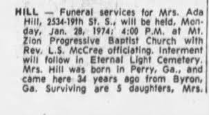 Obituary for Ada Hill - Newspapers.com