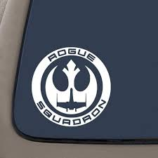 Rogue Squadron Rebel Alliance Decal 6 5 Inches By 6 5 Inches White Vinyl Decal Car Truck Van Suv Laptop Macbook Wall Decals Walmart Com Walmart Com