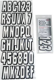 Boat Lettering Transparent Black 3 Registration Kit Hardlineproducts Com