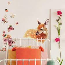Roommates Watercolor Fawn Peel And Stick Giant Wall Decal Target