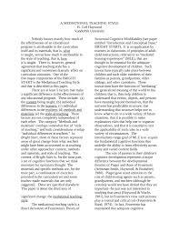 PDF) A mediational teaching style