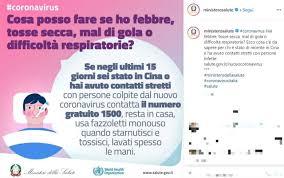 Coronavirus, i consigli del Ministero della Salute sui social