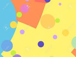 Fractal De Fondo Ludico Simple Con Formas Y Circulos De Colores