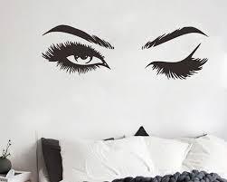 Eyelashes Brows Wall Decal