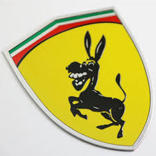 3d Metal Donkey Car Window Bumper Body Sticker Badge Emblem Logo Decal Accessories Fit Italy Flag Color For Ferrari Ford Mustang Car Stickers Aliexpress