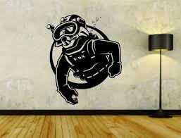 Scuba Diver Diving Logo Vinyl Decal Sticker Wall Boy Girl Ezwalldecals