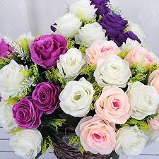 40 سنتيمتر باقات زفاف للعرائس بوكيه ورد صناعي زهرة عقد باقة الزفاف