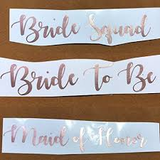 Murrielle Bride Tribe Bride To Be Bride Squad Team Bride Bridesmaid Wedding Party Decal Stickers Rose Gold 6sjzu5dh2