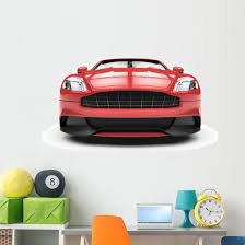 Front Red Sport Car Wall Decal Wallmonkeys Com