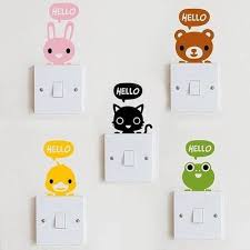 Wall Stickers Cartoon Light Switch Decal Kawaii Wall Stickers Decal Wall Decal Light Switch Decal Stickers Wall Stickers Cartoon Wall Decals Light Switch Decal