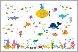 Under The Sea Exploration Ocean Decal Submarine Whale Shark Nurserydecals4you