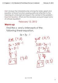 5 5 2 standard point slope form pd 2