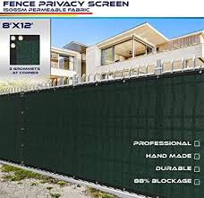 Amazon Com 8 X 12 Privacy Fence Screen In Green With Brass Grommet 85 Blockage Windscreen Outdoor Mesh Fencing Cover Netting 150gsm Fabric Custom Garden Outdoor