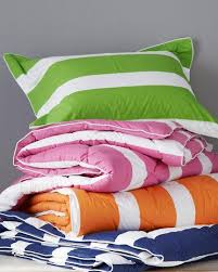 elementary down free striped comforter