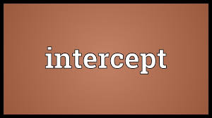 Image result for intercepted word