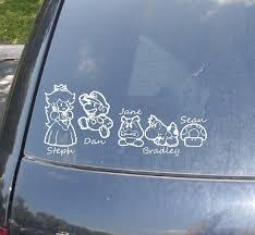 10 Geeky Families In Car Sticker Art