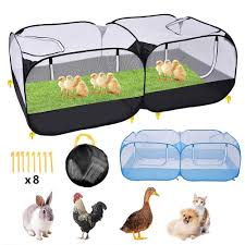 Pet Playpen Chicken Coop Rabbit Cage Portable Foldable Pet Fence Outdoor Small Animal Cage Game Playground Fence Pet Supplies Houses Kennels Pens Aliexpress