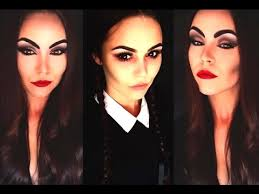 wednesday addams easy halloween makeup