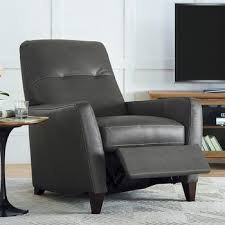 leather pushback recliner armchair