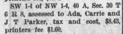 Ada Parker Tax Collectors Sale beat 3 Monroeville Al - Newspapers.com