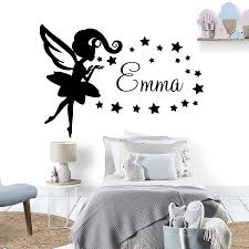Magic Wall Decals Girls Room Art Ornament Personalized Name Vinyl Ceiling Wardrobe Home Furnishing Decorative Sticker Z234 Wall Stickers Aliexpress