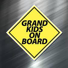 I Love My Grandkids Vinyl Decal Sticker Kids Grandma Grandpa Window Laptop Heart Rainbowlands Lk