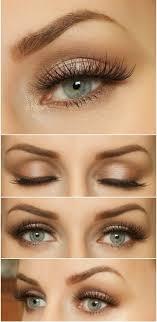 natural makeup look blue eyes brown
