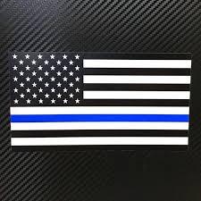 Blue Stripe American Flag Vinyl Sticker Decal Custom Police Etsy