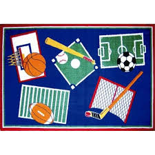 Fun Rugs Sports A Rama Kids Rugs Walmart Com Walmart Com
