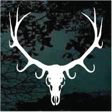 Elk Skull Mounted Decals Car Window Stickers Decal Junky