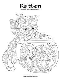 Amazon Com Katten Kleurboek Voor Volwassenen 1 2 Dutch Edition