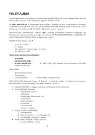 Politrauma - Appunti 1 - 1034834 - uniroma1 - StuDocu