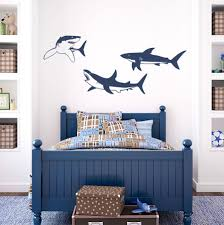 Shark Trio Wall Decal Shark Decor Wall Decals Bedroom Wall Designs