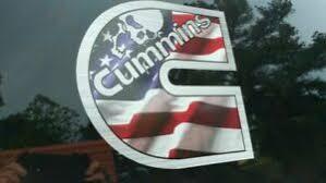 Cummins Turbo Diesel Back Window Decal Sticker 4pc Set American Flag W Skull Ebay