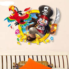 New Cartoon Pirate Captain Vinyl Wall Stickers Removable Art Mural For Home Decoration Kids Bedroom Art Wall Decal Art Wall Decals From Highqualityok4 11 51 Dhgate Com