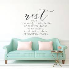 Amazon Com Inspirational Vinyl Quotes Nest Noun Welcoming Wall Decor For Bedroom Living Room Dorm Or Home Decoration Handmade