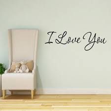 I Love You Wall Decal Quotes Home Decor Sayings Wall Decals Etsy