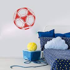 Amazon Com Wall Stickers Wall Tattoos Wall Decals Wall Posters Wall Paintings Football Soccer Ball Wall Decal Boy Room Kids Room Sport Ball Wall Sticker Bedroom Play Room Vinyl Home Decor 56x56cm Kitchen