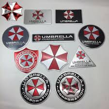 1pc 3d Metal Resident Evil Umbrella Corporation Emblem Badge Car Motorcycle Sticker Decal With Self Adhesive Wish